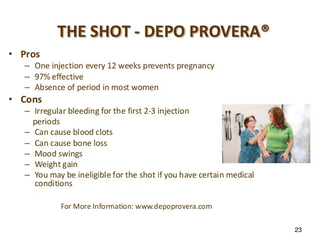 Depo provera and bleeding