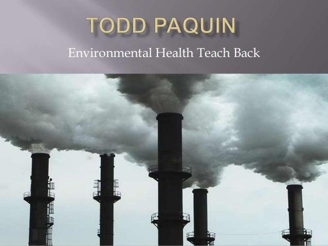Environmental Health Teach Back