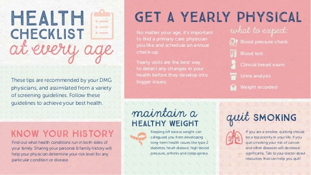 women s health screening through the ages