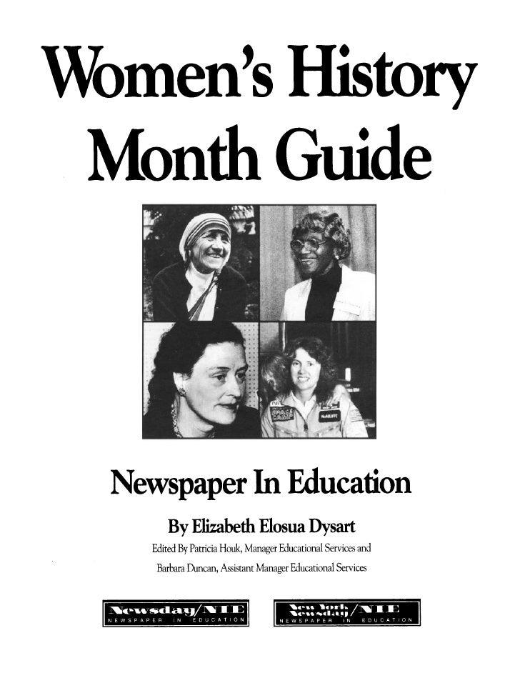 Women's History Month Guide / Elizabeth Elosua Dysart