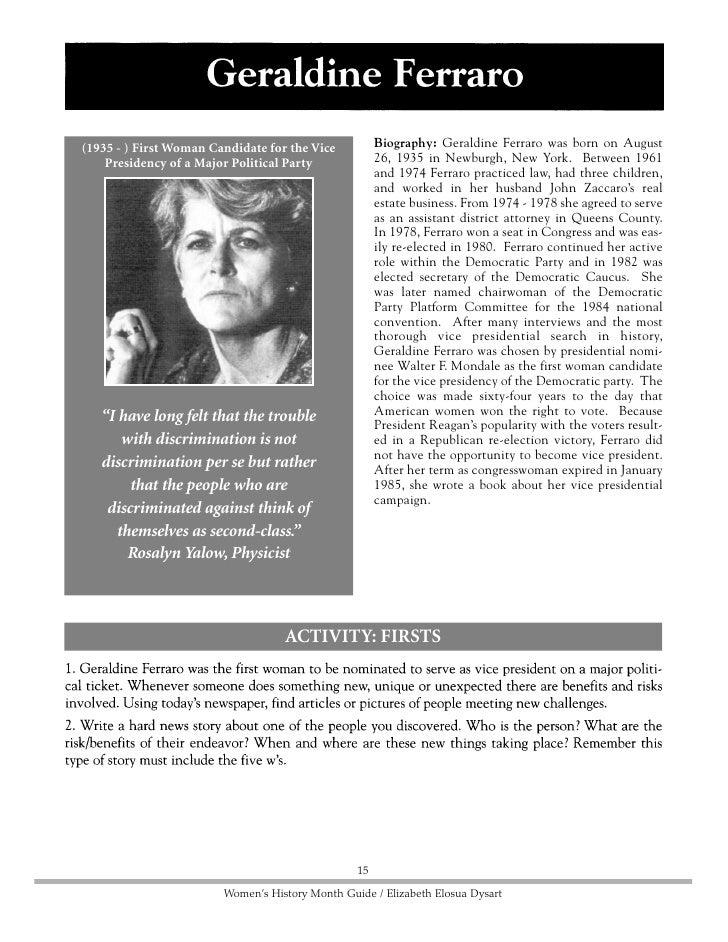 Biography: Betty Friedan was born in Peoria,                   (1921 - ) Writer, Women's Rights Activist Illinois on Febru...