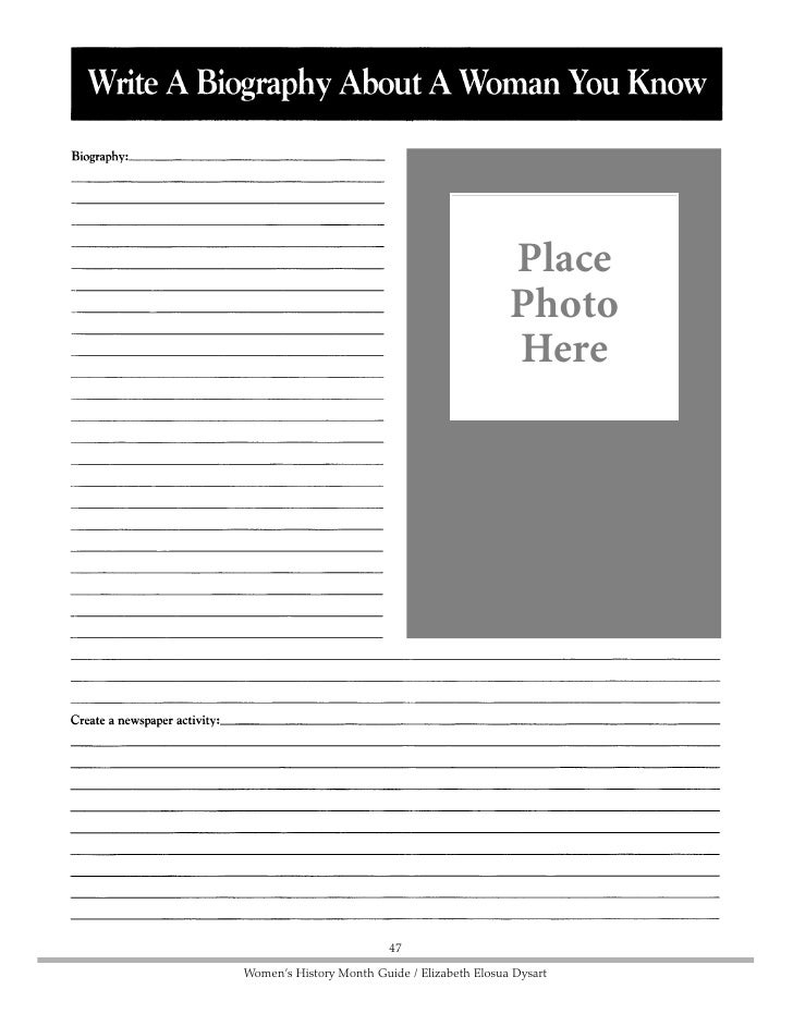 Place Photo Here                                 48     Women's History Month Guide / Elizabeth Elosua Dysart