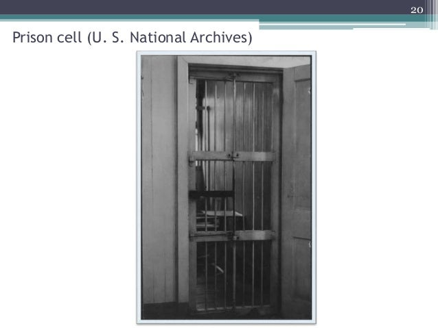 Prison cell (U. S. National Archives) 20