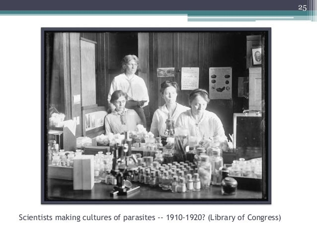 Scientists making cultures of parasites -- 1910-1920? (Library of Congress) 25