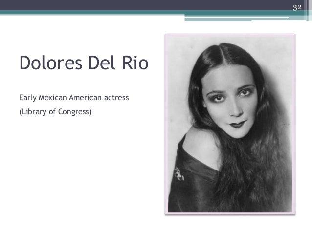 Dolores Del Rio 32 Early Mexican American actress (Library of Congress)