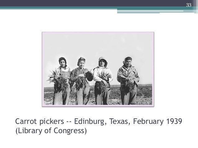 33 Carrot pickers -- Edinburg, Texas, February 1939 (Library of Congress)