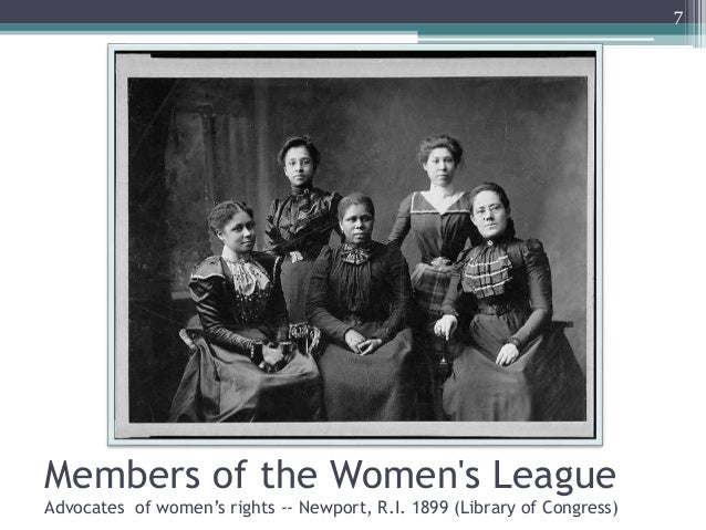 Members of the Women's League Advocates of women's rights -- Newport, R.I. 1899 (Library of Congress) 7