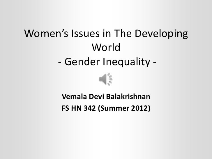 gender inequality in the developing world 162 humanity divided: confronting inequality in developing countries  two  decades, the goal of reducing gender inequality has held a prominent place in.