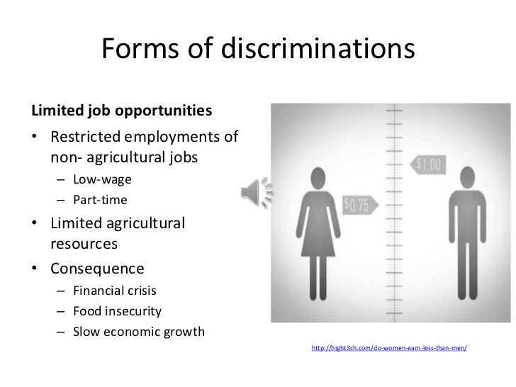 The issue of gender inequality in the workplace in the world
