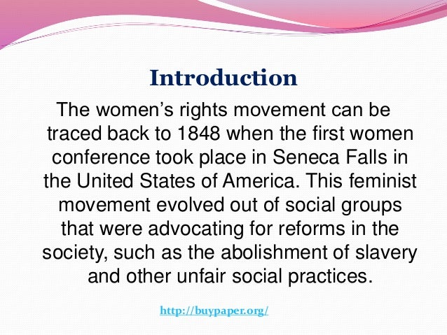 women s movement 2 introduction the women s rights movement
