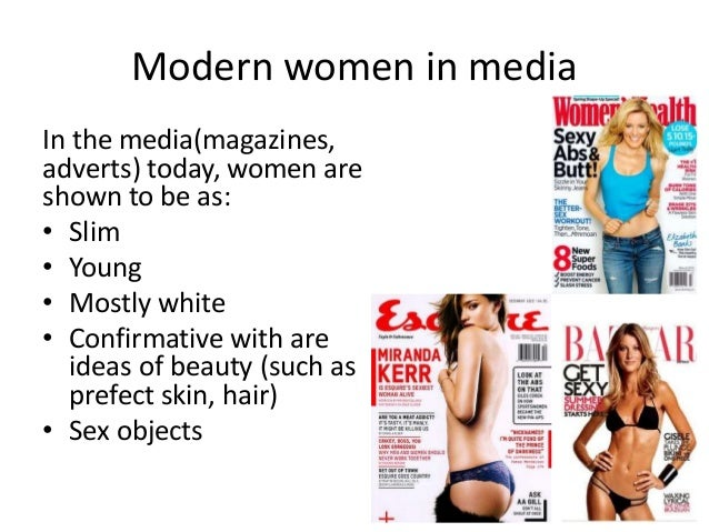 Representation of women in the media today