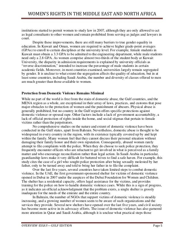 essay on womens rights in islam The rights of muslim women and men are as you i am incredibly stunned reading such a manipulated and wrong essay which depicts a completely distorted image of islam and a false picture of women in islampresenting verses of quran out of text has always been a strategy of western world.