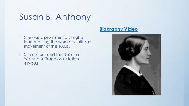 susan b anthony's constitutional argument