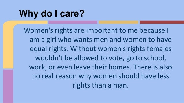 Do you think women should have equal rights with men?
