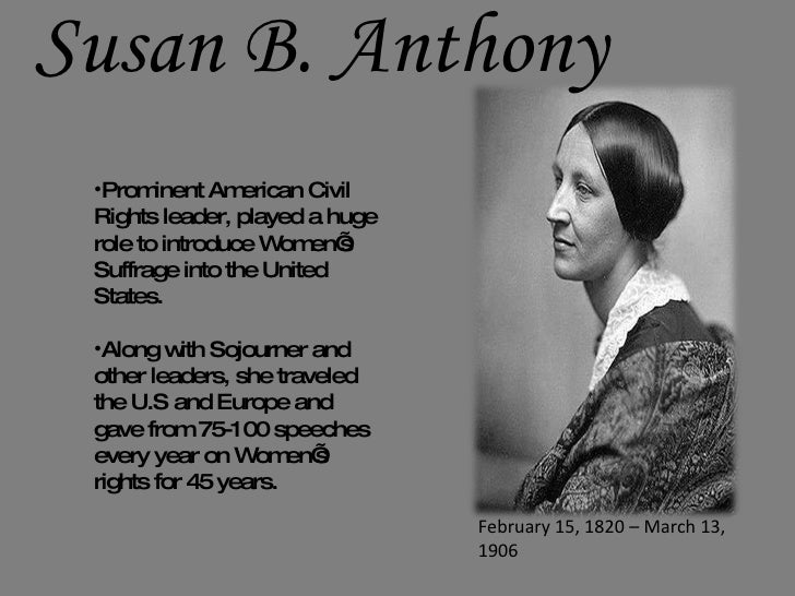 Susan b anthony thesis statement in her speech