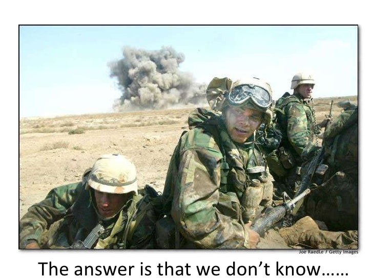 The answer is that we don't know……