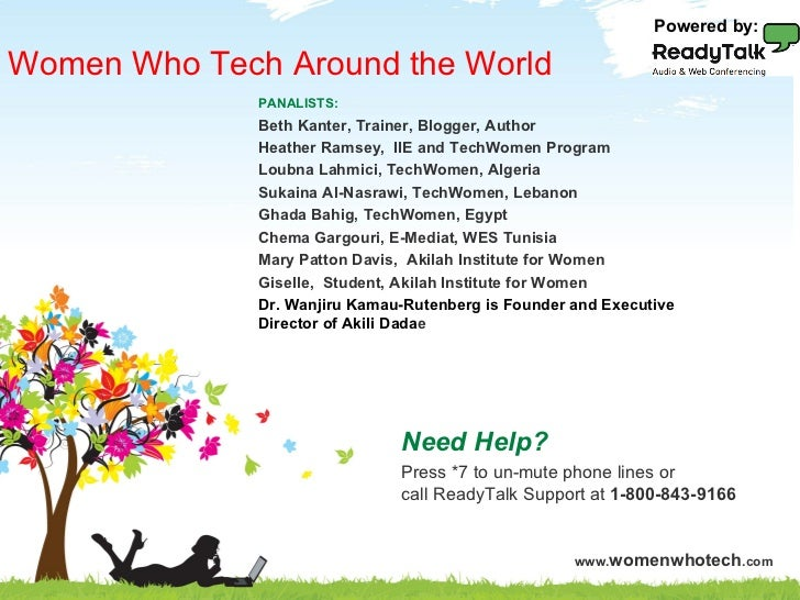Powered by:Women Who Tech Around the World                         PANALISTS:                         Beth Kanter, Trainer...