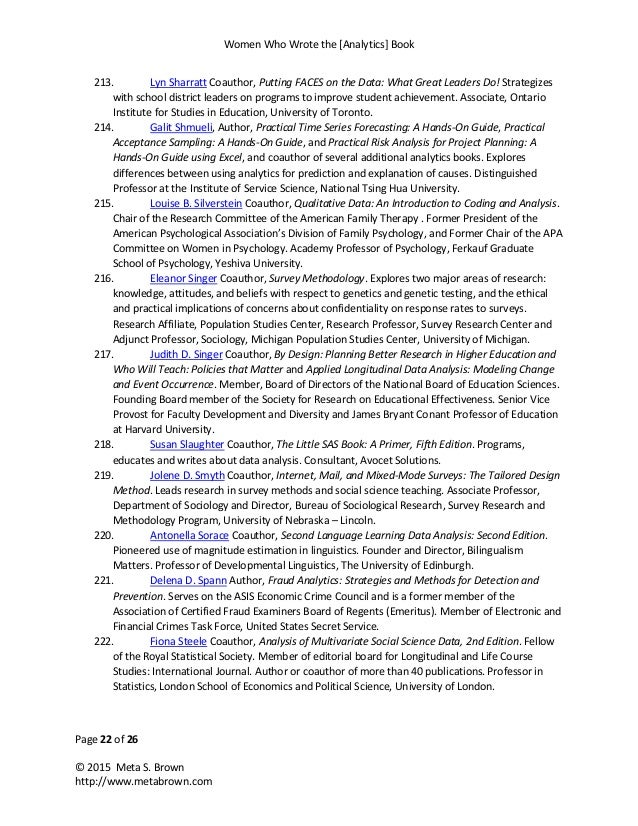 Women who wrote the analytics book final 22 fandeluxe Gallery