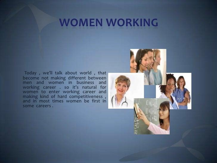 Women working Slide 2