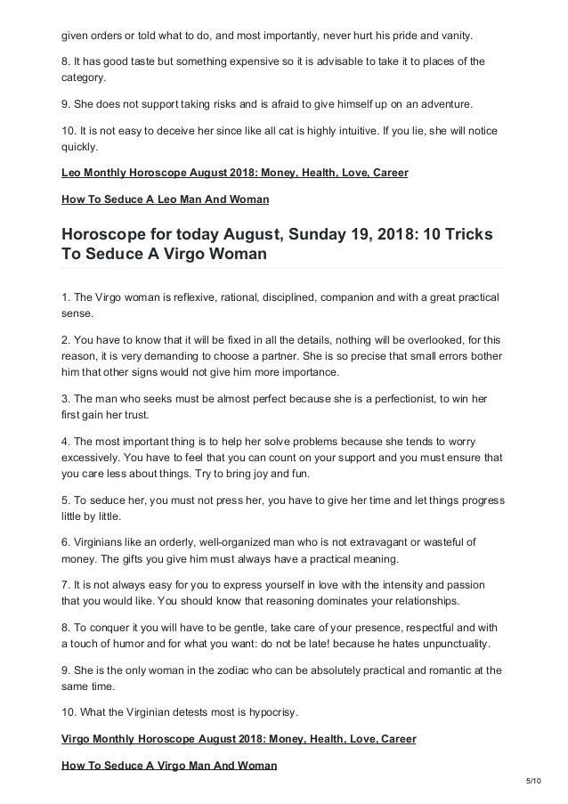 Womenzilla com today horoscope august 19 2018 10 tricks to