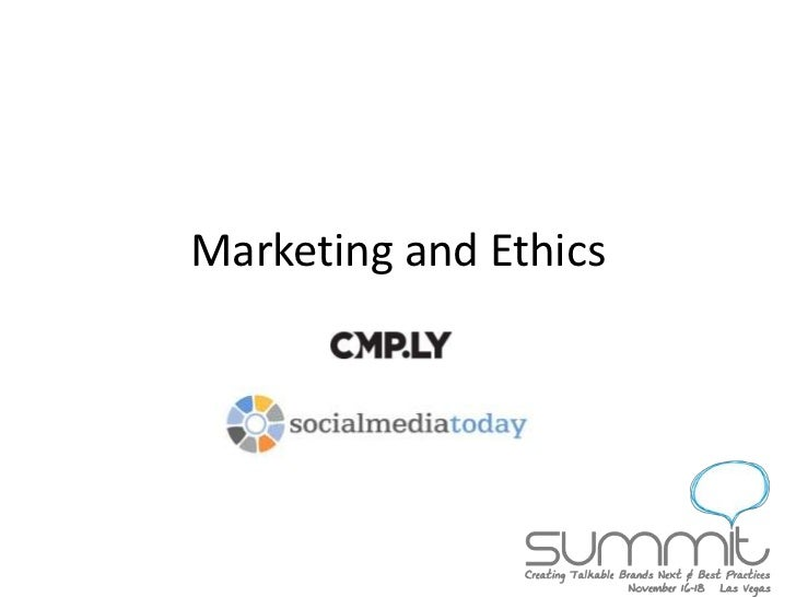 Marketing and Ethics