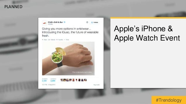 Apple's iPhone &  Apple Watch Event  PLANNED  #Trendology