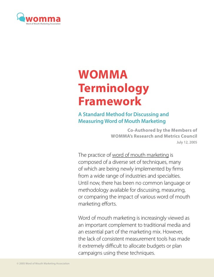 womma        Word of Mouth Marketing Association                                                  WOMMA                   ...