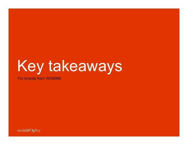 9 Key Takeaways for Brands from WOMMA Summit 2012 Slide 2
