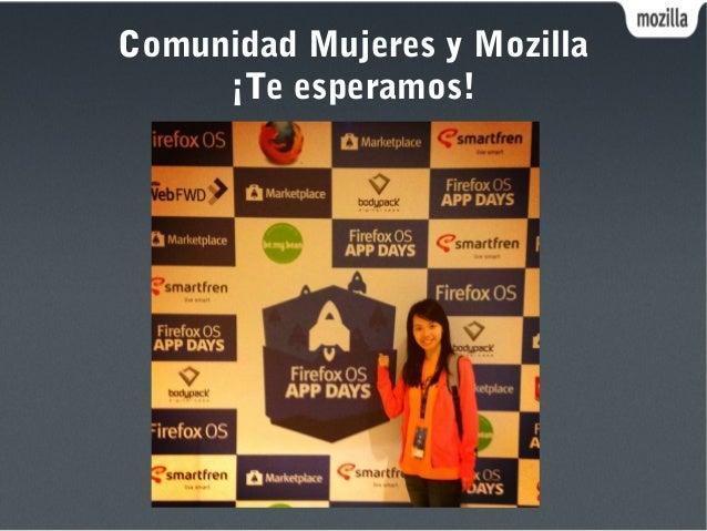 Comunidad Mujeres y Mozilla ¡Te esperamos!