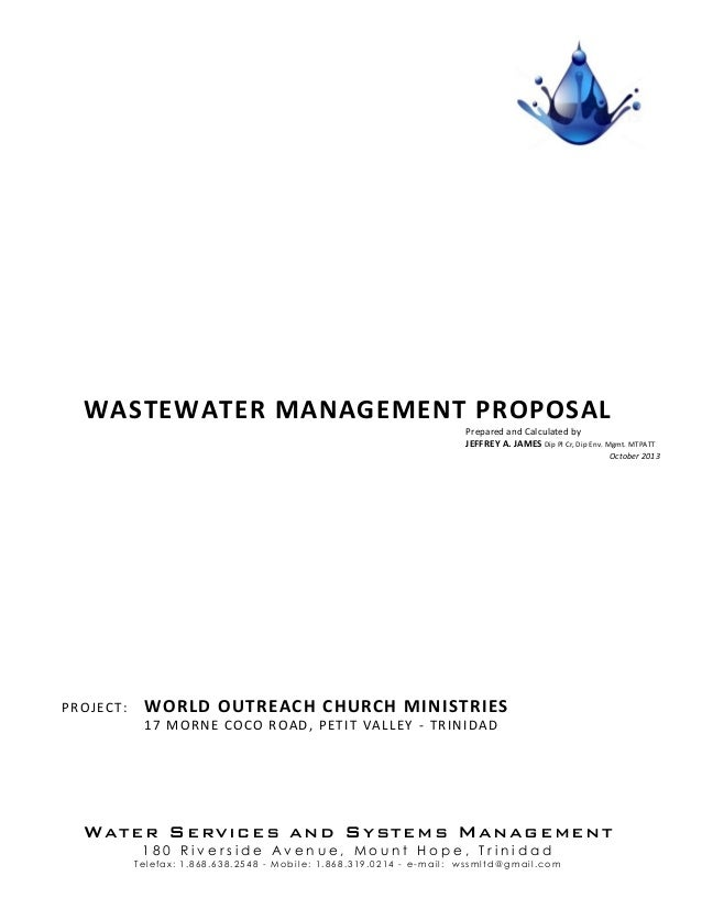 WATER SERVICES AND SYSTEMS MANAGEMENT 1 8 0 R i v e r s i d e A v e n u e , M o u n t H o p e , T r i n i d a d Telefax: 1...