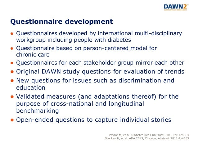 Diabetes Attitudes, Wishes and Needs second study (DAWN2 ...