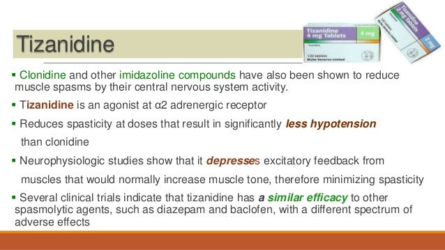 Tizanidine side effects