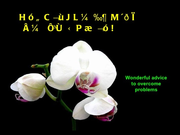 "Wonderful advice to overcome problems Hó""C¬ùJL¼‰¶ M´ðì å¼ ï™ô ÜP¾¬ó!"