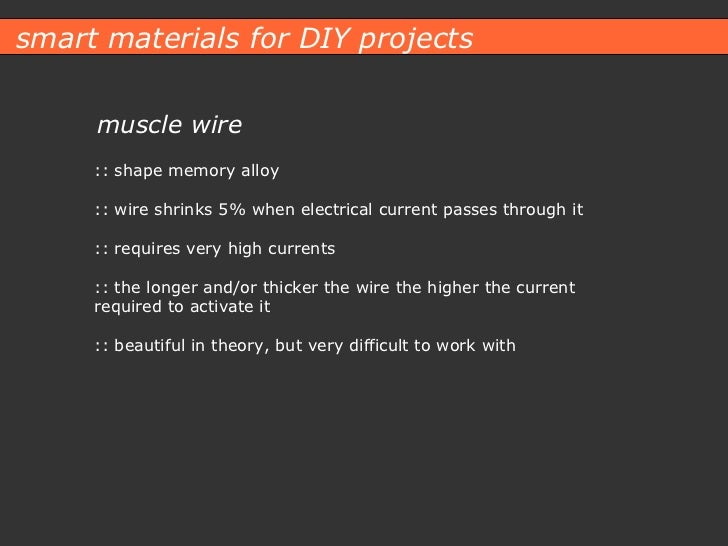 Smart Materials for DIY Projects