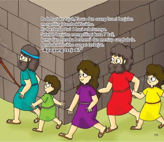 /XBA/ H/II / l  Ketika orang-orang mendengar suara Sangkakala,  mereka mulai berteriak.  TembokYerikho yang tinggi itu run...