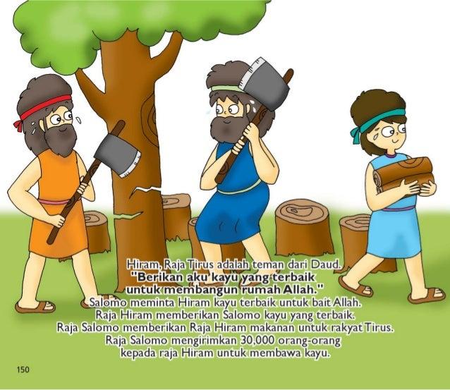 Salomo mempunyai 80,000 pemotong batu.  Salomo mempunyai 70,000 pembawa barang.  Dia mempunyai 3,000 mandor.  Raja menyuru...