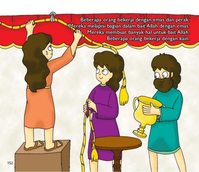 Itu memakan waktu 7 tahun bagi raja Salomo untuk menyelesaikan bait itu.   Bait itu sangat besar dan cantik.  . r,  / I  /...