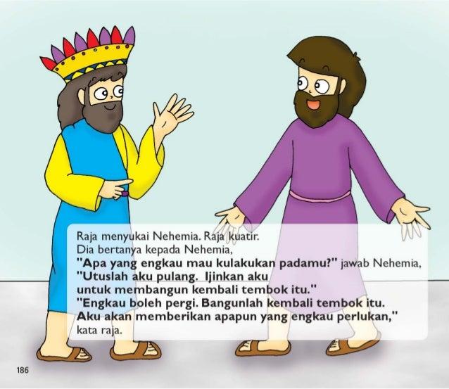 Nehemia kembali ke rumahnya.   Raja memberikan dia barang-barang untuk membangun tembok itu.  Dia membawa serta barang-bar...