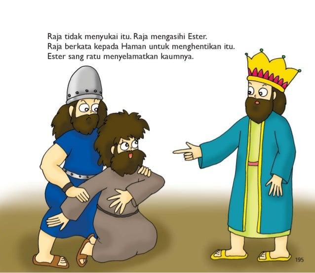 196  Ester dan kaumnya tidak takut lagi.  Mereka menjadi bahagia karena keberanian ratu Ester.
