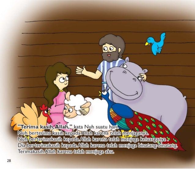 """ihriilah, """" kata Nuh suatu hari.  j -s i j j ' EJEAIIah karena tela  """" i Nh eeimakasih kepadaAllah  -~ Dial Terimakasih Al..."""