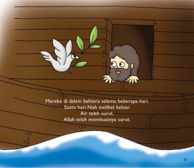 """_ j l:  v A"""" , _ . . l 7350/   2 ° lêlgfêl c (ja.      Mereka di dalam bahtera selama beberapa hari.  l Suatu hari Nuh mel..."""
