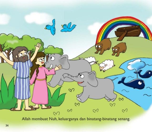 9  $0 M Q/7 0/7  Allah membuat Nuh,  keluarganya dan binatang-binatang senang.   34
