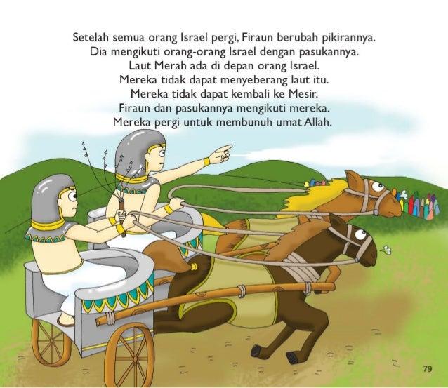 """Musa berkata,  """"jangan takut. Allah akan menyelamatkan kita! """" x/ iilah berkata kej5a`da>Musa,  """"Angkatlah tongkatmu ke at..."""