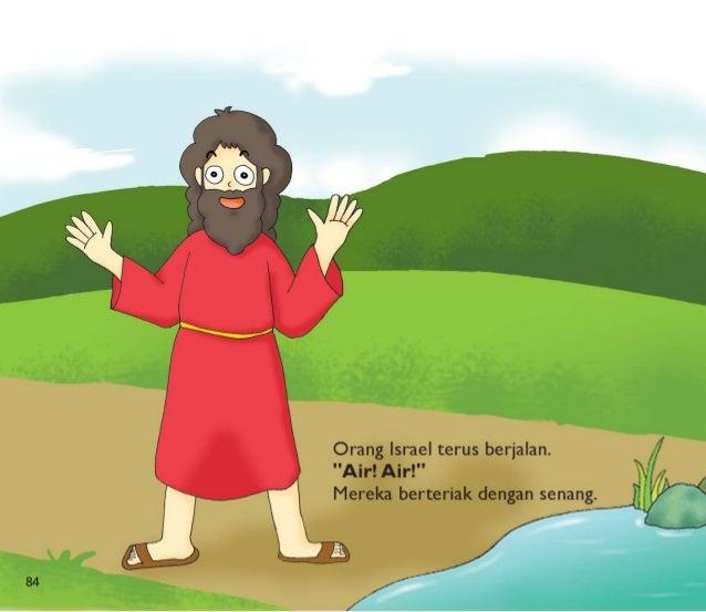 """Mereka mend patkan air di Mara,  te api air itu pahit untuk diminum.  Allah berkata kepada Musa.  """"Lemparka sepotong kayu ..."""