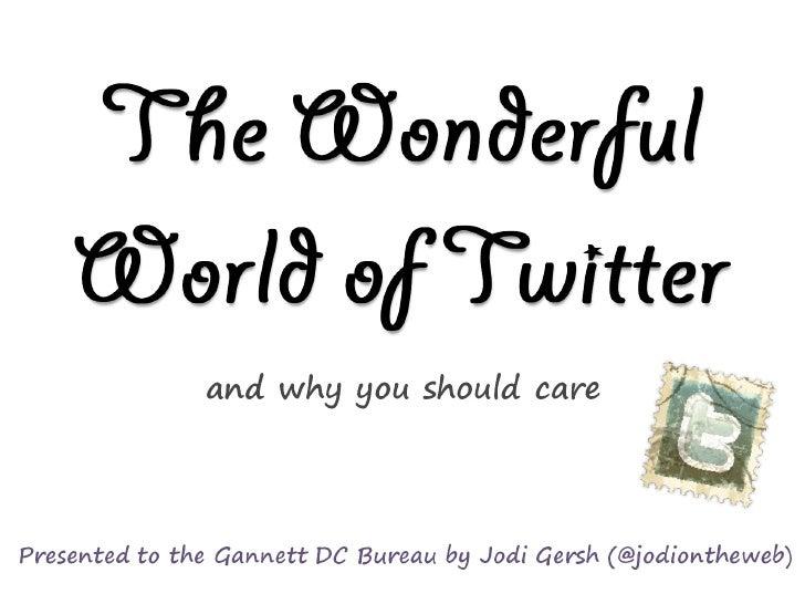 Wonderful World of Twitter