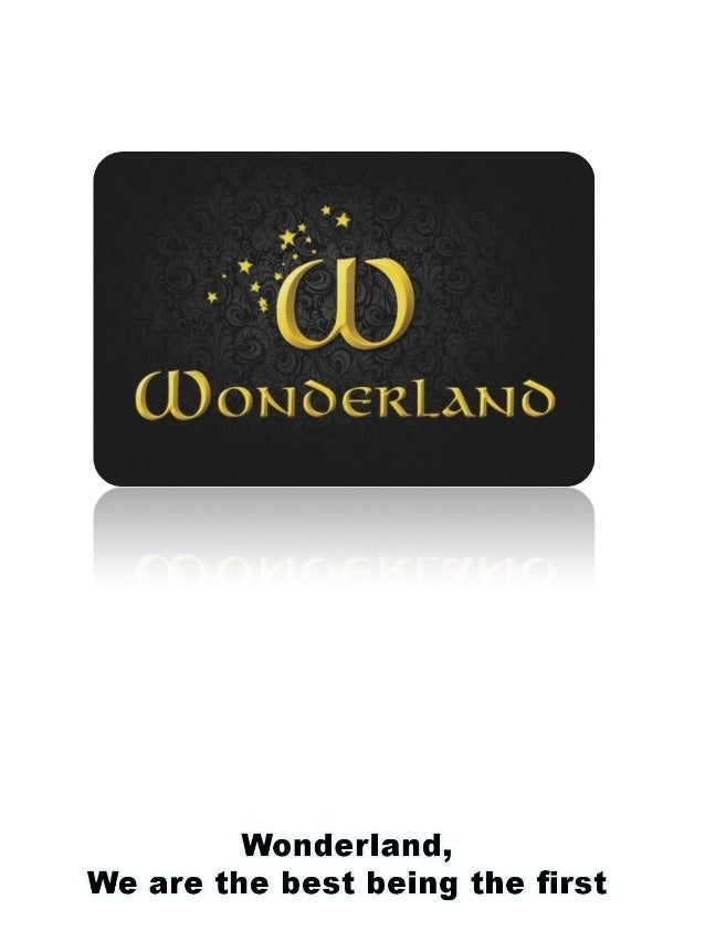Since 1.995 – 2.000  COMPANY HISTORY - 1  WONDERLAND GROUP IS IN 1995  CREATED  Since then, wonderland became a groundbrea...