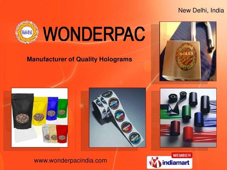 New Delhi, India <br />Manufacturer of Quality Holograms<br />