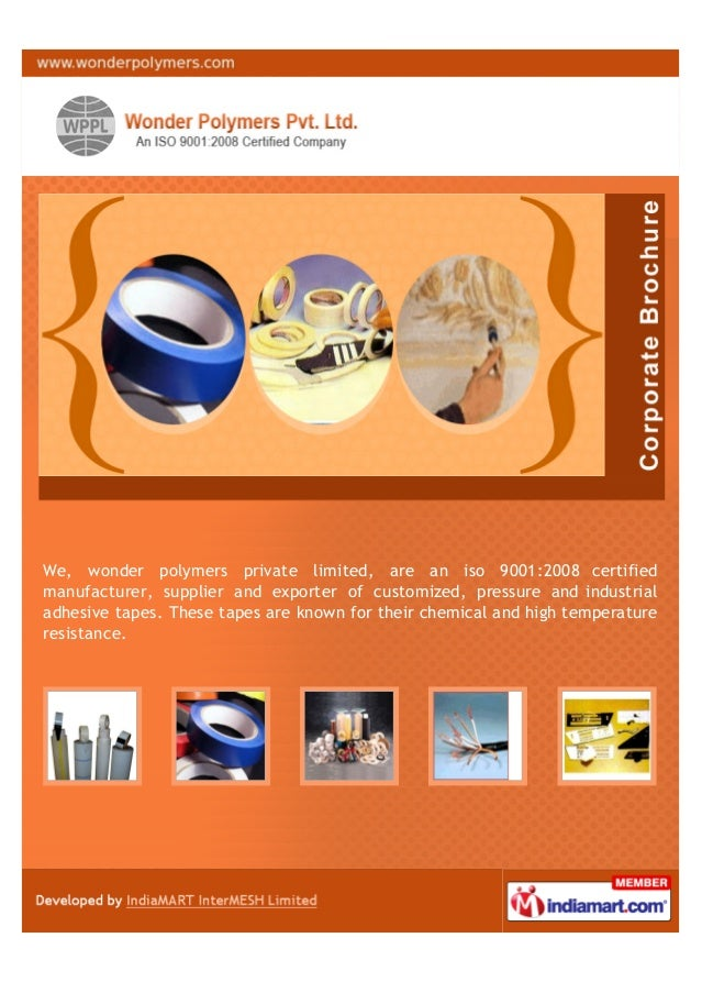 We, wonder polymers private limited, are an iso 9001:2008 certifiedmanufacturer, supplier and exporter of customized, pres...