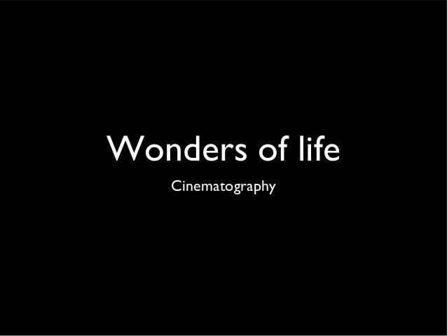 Wonders of life    Cinematography