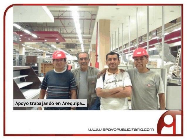 Apoyo trabajando en Arequipa…